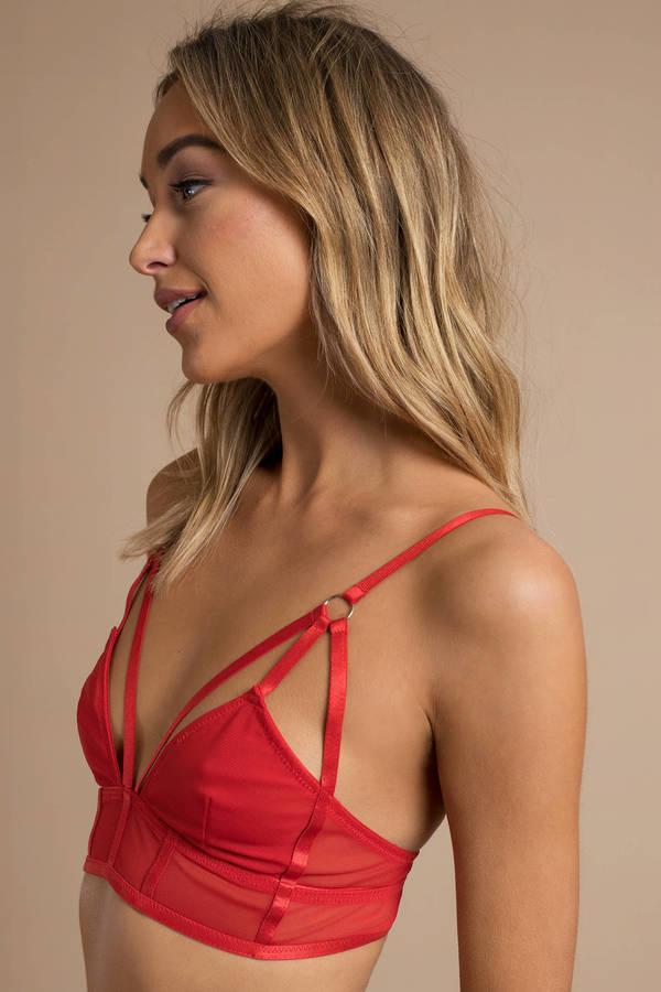 1fae3a57cf So Fine Red Strappy Bralette So Fine Red Strappy Bralette ...