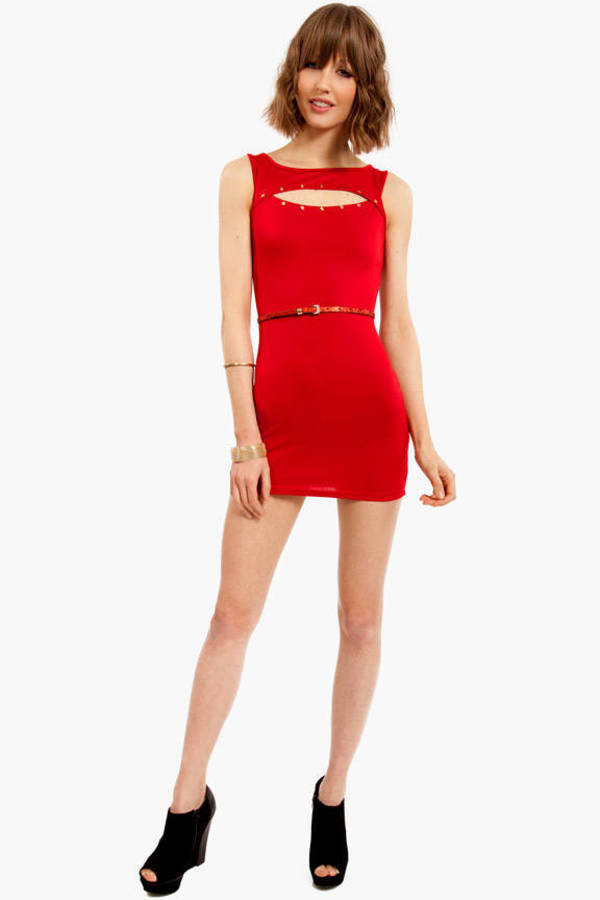 Splice Studded Dress