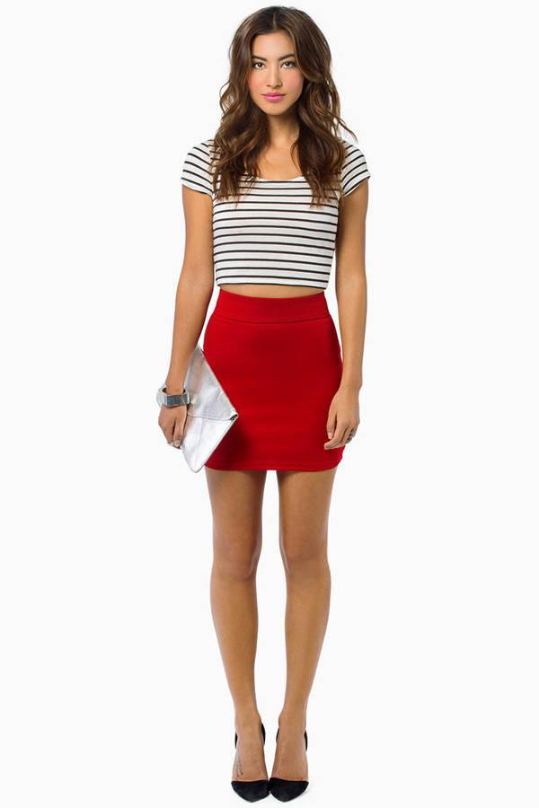 Berry Skirt - Pink Skirt - Mini Skirt - $6.00