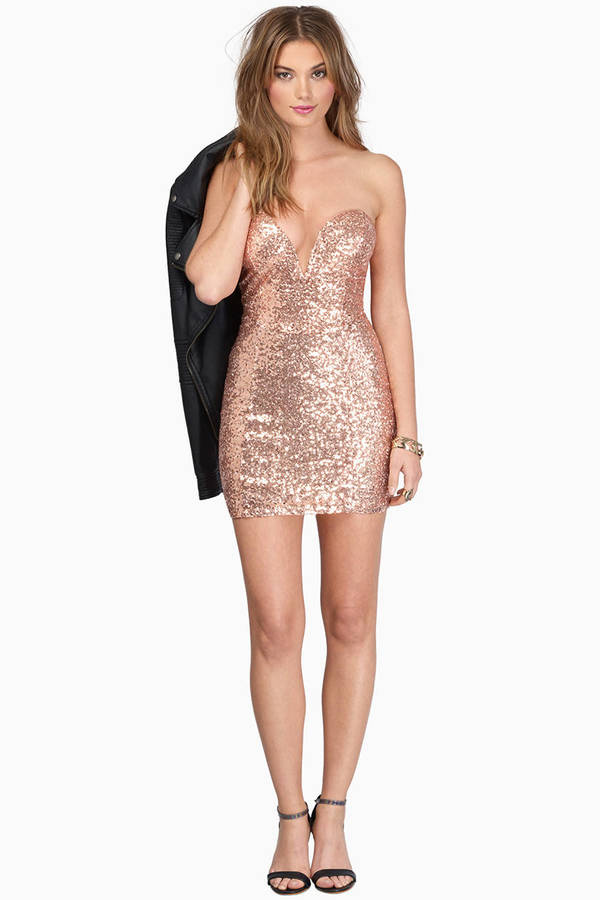 Cute Neon Pink Bodycon Dress - Pink Dress - Sequin Dress - $14.00
