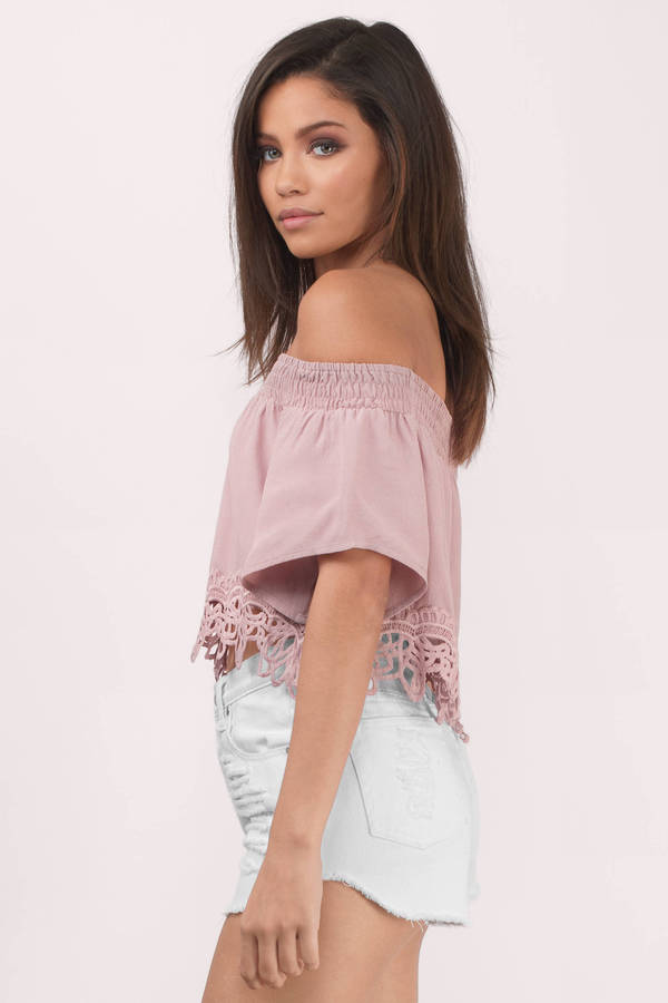 Cute Rose Blouse Off Shoulder Blouse Rose Blouse 17 Tobi Us