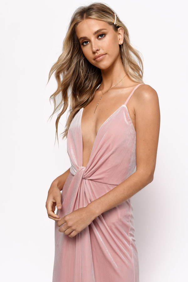 acf1be7d832f31 Layla Rose Plunging Velvet Maxi Dress Layla Rose Plunging Velvet Maxi Dress  ...