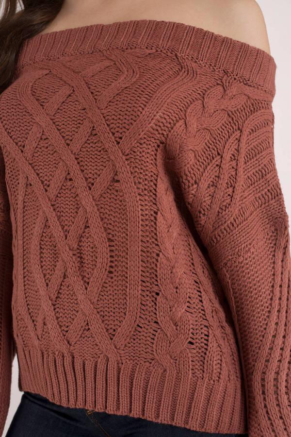 Orange Sweater Off Shoulder Knit Sweater Orange Sweater 17
