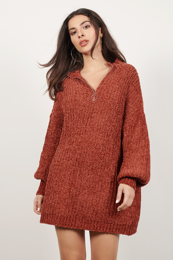 b6055bd03fd Tammy Rust Chenille Sweater Dress Tammy Rust Chenille Sweater Dress ...