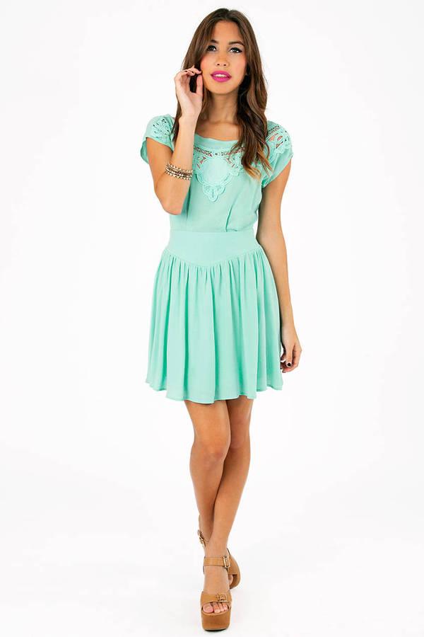 Carrie Crochet Front Dress