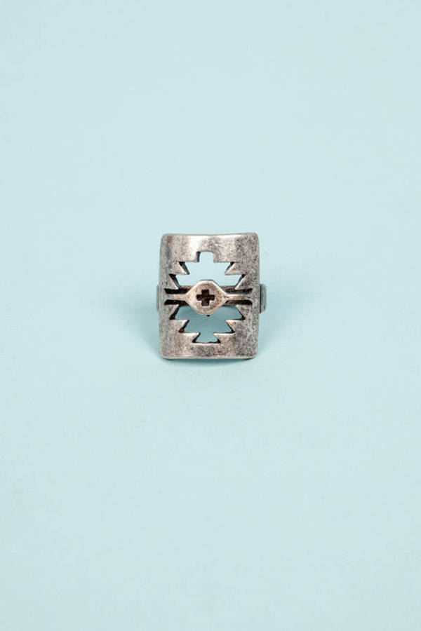 Aztec Eye Ring
