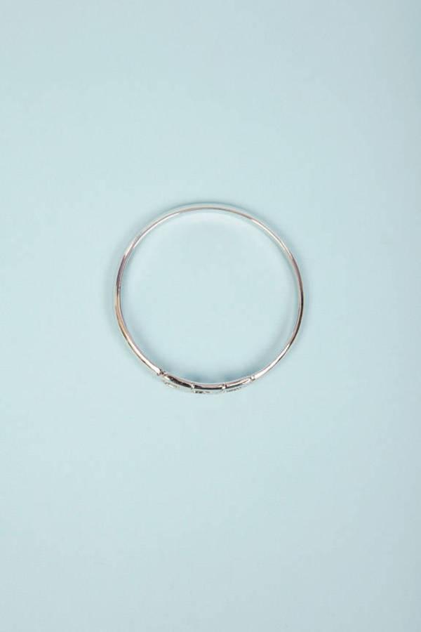 Chevron Bangle Bracelet