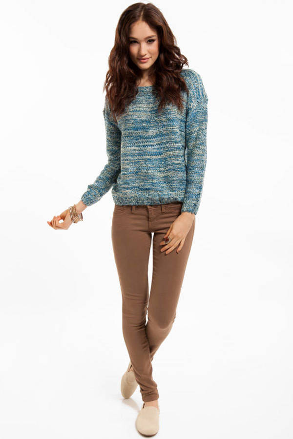 True Blue Marled Sweater