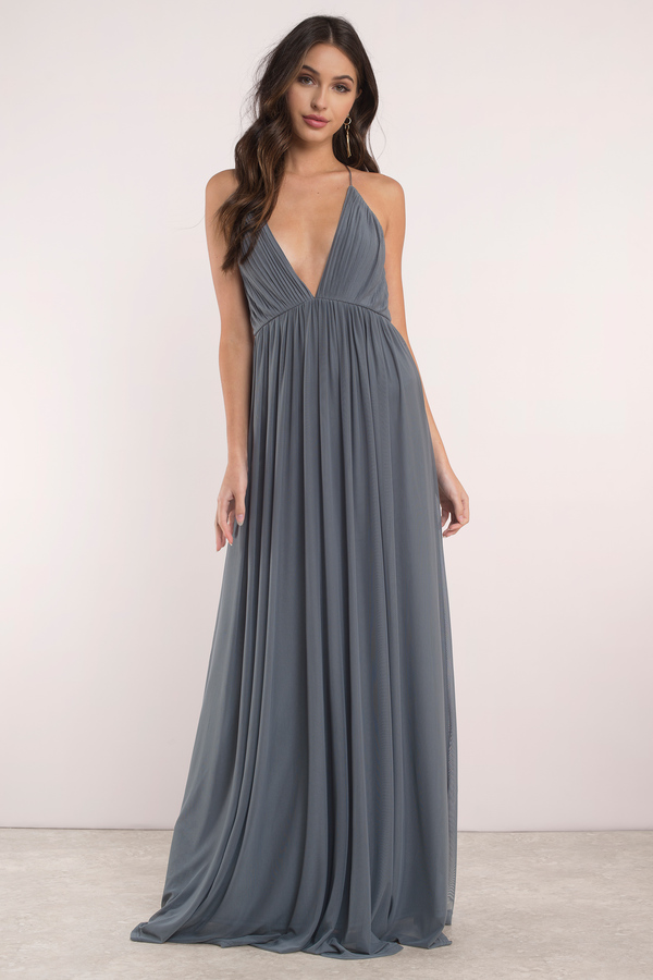 Mauve Dress Pleated Dress Deep V Dress Sweep Dress