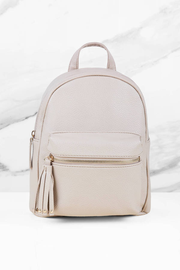 f9ace11c37 Lillian Gunmetal Mini Backpack. Double Tap To Zoom