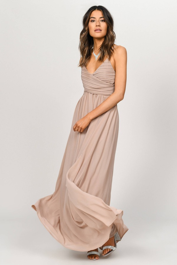 6edebf1ee ... Tobi Homecoming Dresses, Taupe, All About Tonight Maxi Dress, Tobi