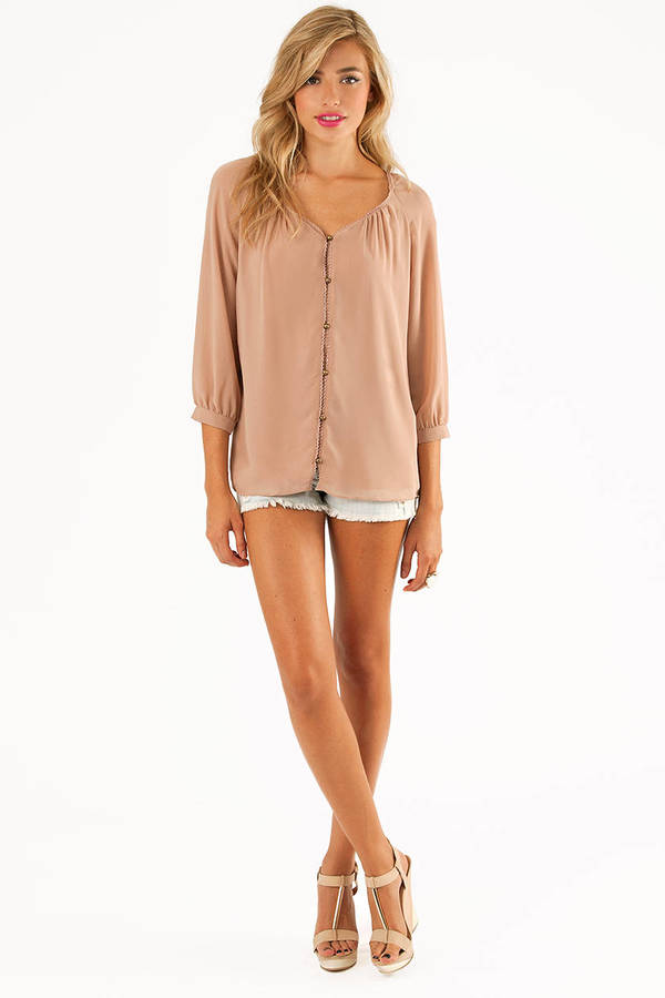 Brita Button Front Blouse