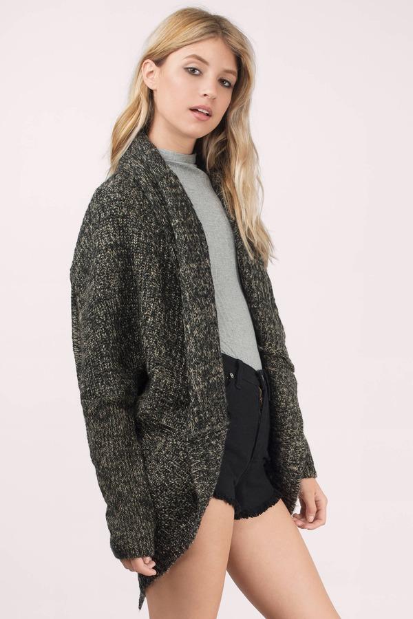 Taupe Cardigan - Long Sleeve Cardigan - Taupe Sweater - $20 | Tobi US