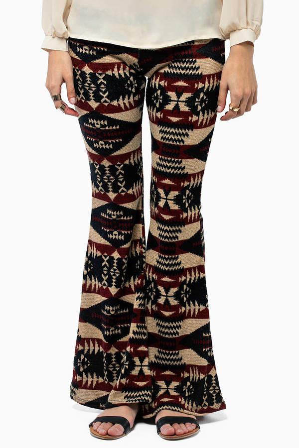 Aztec Flare Bottom Pants