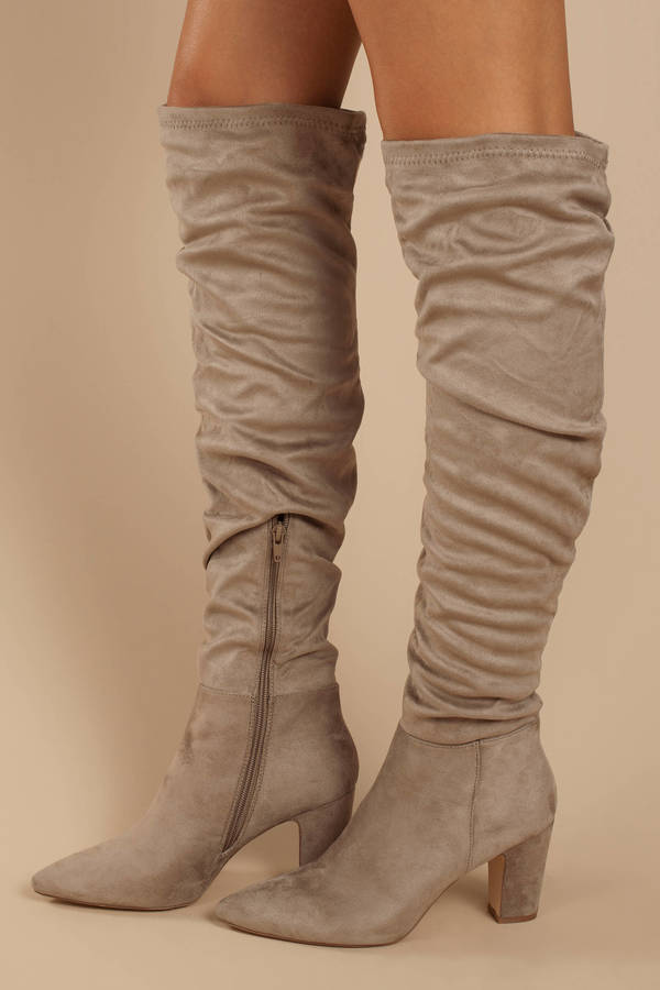b597400b3b4 ... Chinese Laundry Chinese Laundry Remi Taupe Faux Suede Slouchy Thigh  High Boots ...