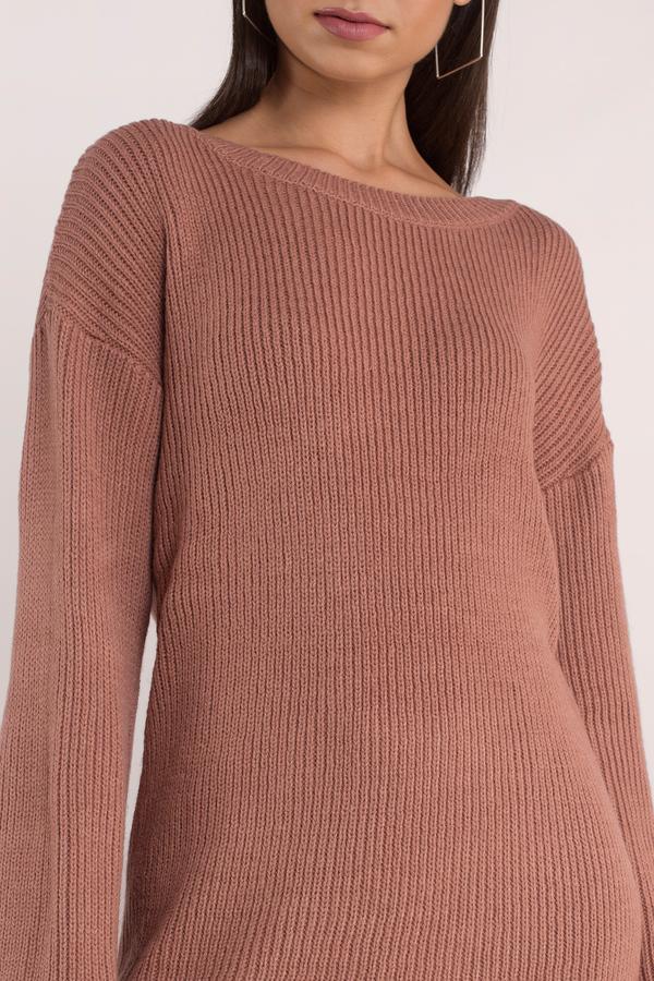 Allison Terracotta Sweater Dress Allison Terracotta Sweater Dress ... c3adf52413