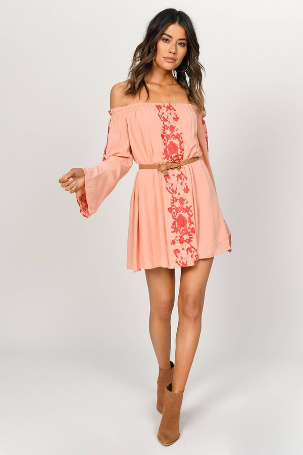 38c23ad6867f ... Tobi Wedding Guest Dresses, Terracotta, Boho Babe Embroidery Shift  Dress , Tobi