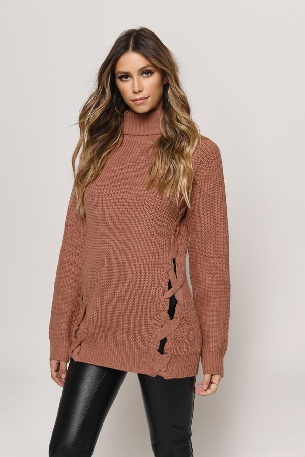2f30b31f63 Need You Cream Turtleneck Sweater Need You Cream Turtleneck Sweater ...