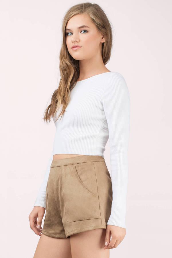Cute Toast Shorts - High Waisted Shorts - Brown Shorts - Toast ...