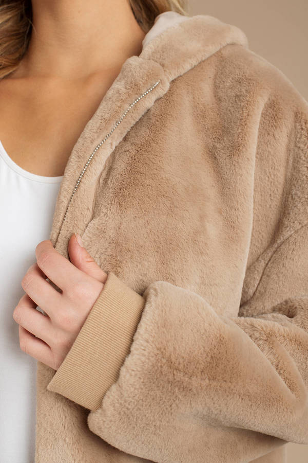 Gracie Oversized Faux Fur Hoodie Jacket