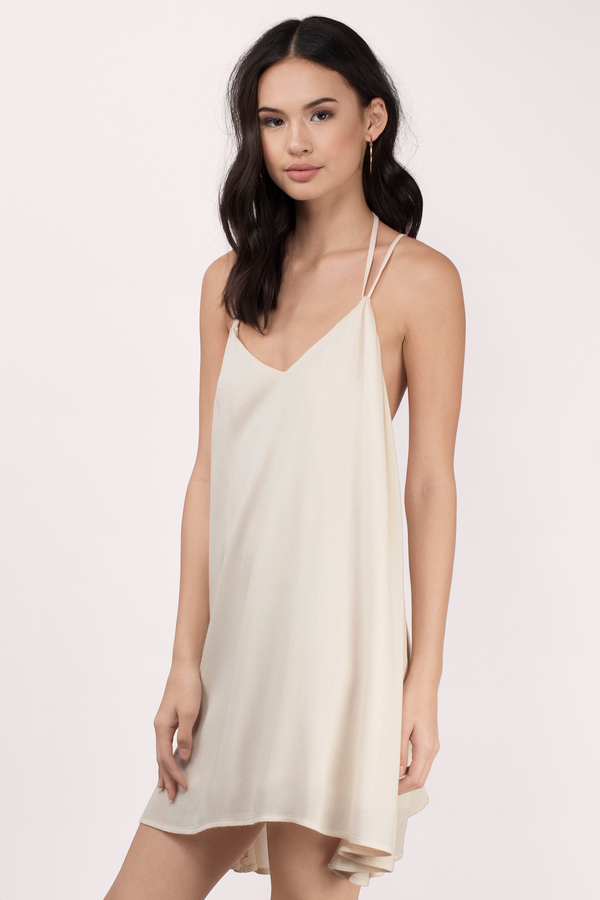 Flowy Dresses  White Gold Lace &amp Maxi Summer Sundress  Tobi