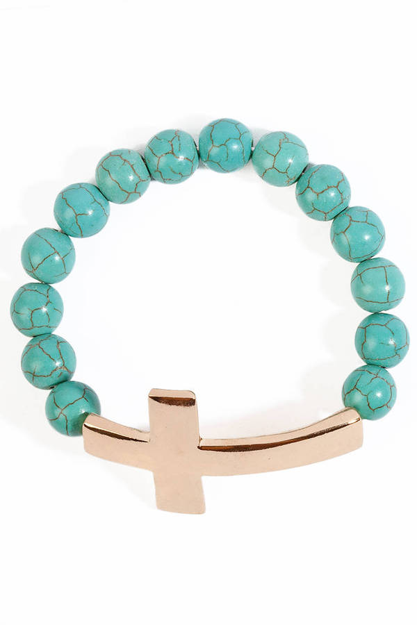 Marble Cross Bracelet