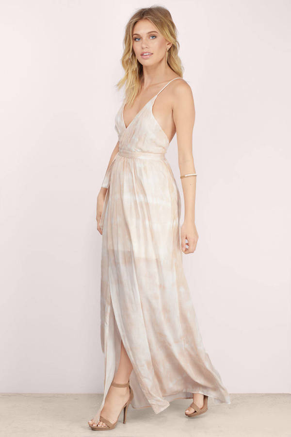 Cute Uluwatu Tie Dye Maxi Dress - Nude Dress - Wrap Dress - $84 ...