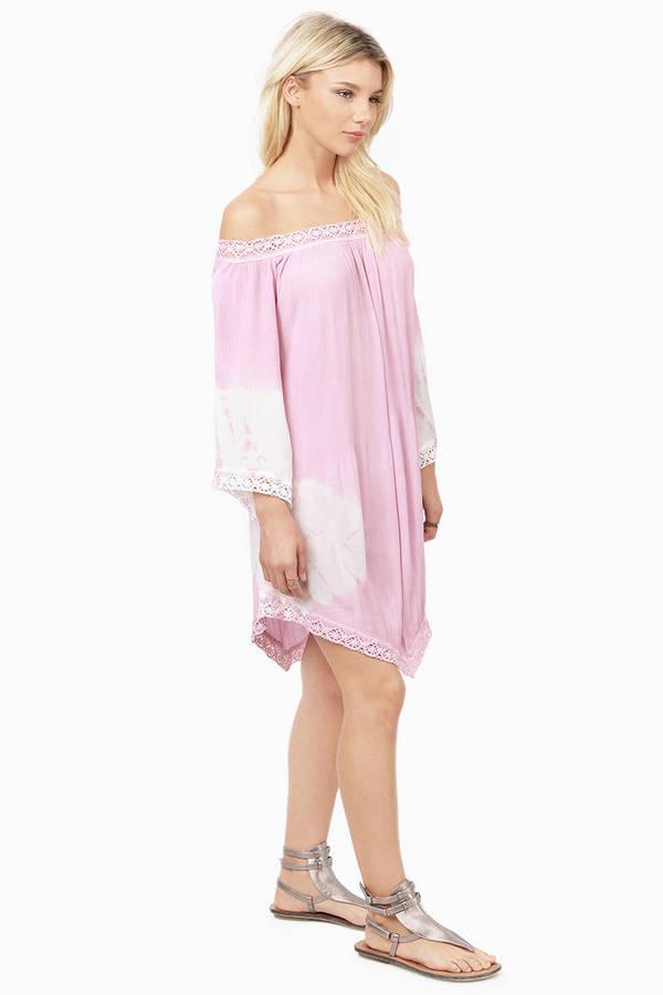 4006c49be6b0 Violet Shift Dress - Off The Shoulder Dress - Purple Shift Dress ...