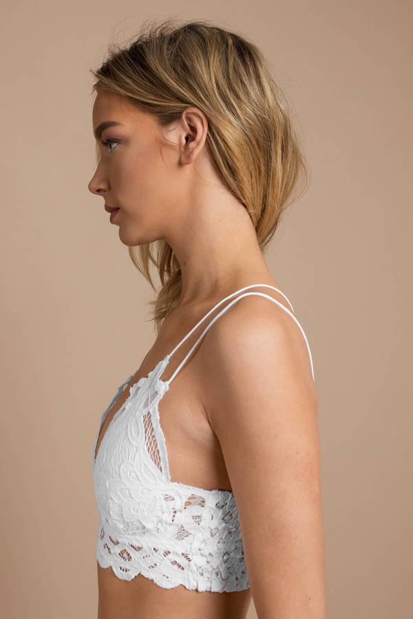 5a702027d ... Free People Free People Adella White Lace Bralette ...
