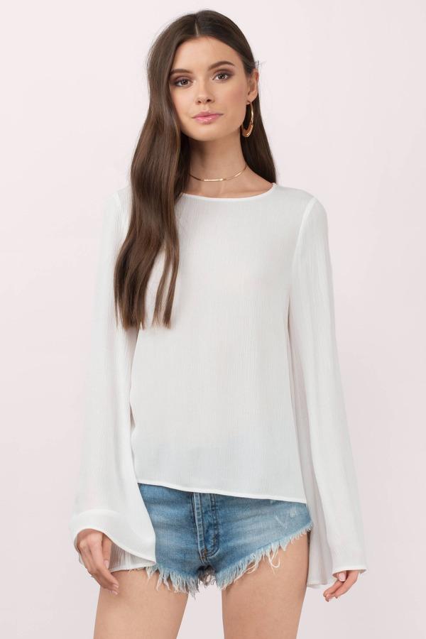 White Cute Blouse 111