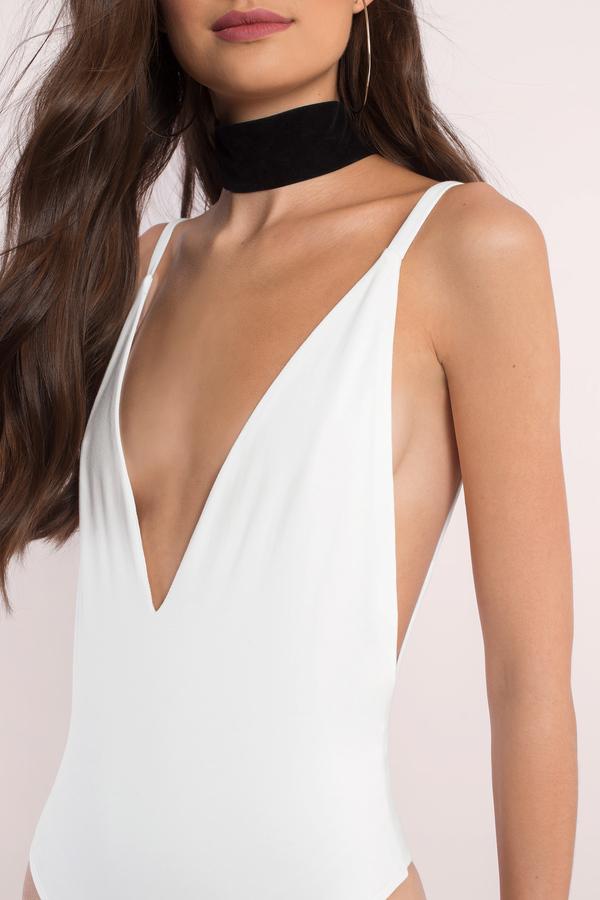 29aaa0d9ef6b Sexy White Bodysuit - Low Back Bodysuit - White Bodysuit - £9 | Tobi GB