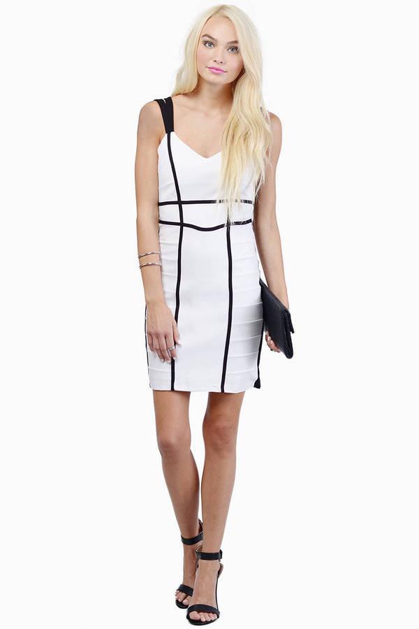 Bardot Bound Panel Dress