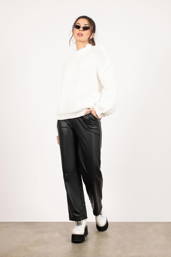 White Turtleneck Sweater Slouchy Knit37Tobi Us 1ucTlFKJ35