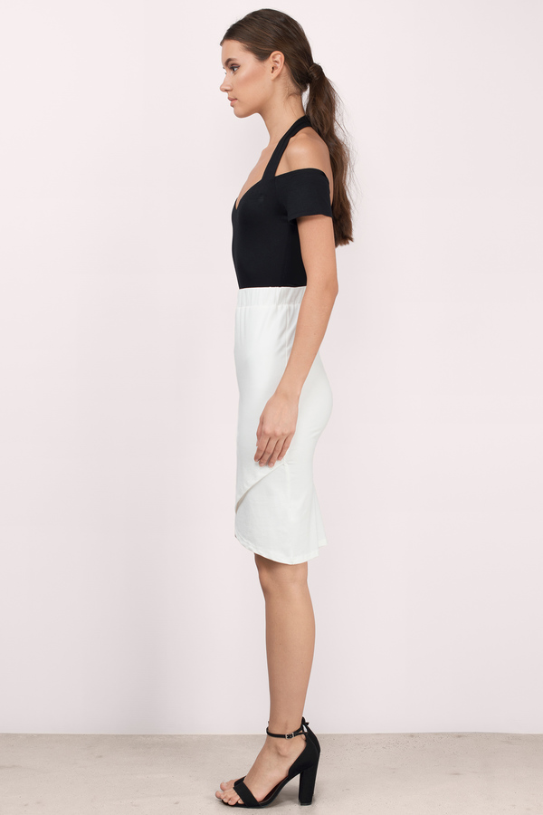 Trendy White Skirt - White Skirt - High Waisted Skirt - $10.00