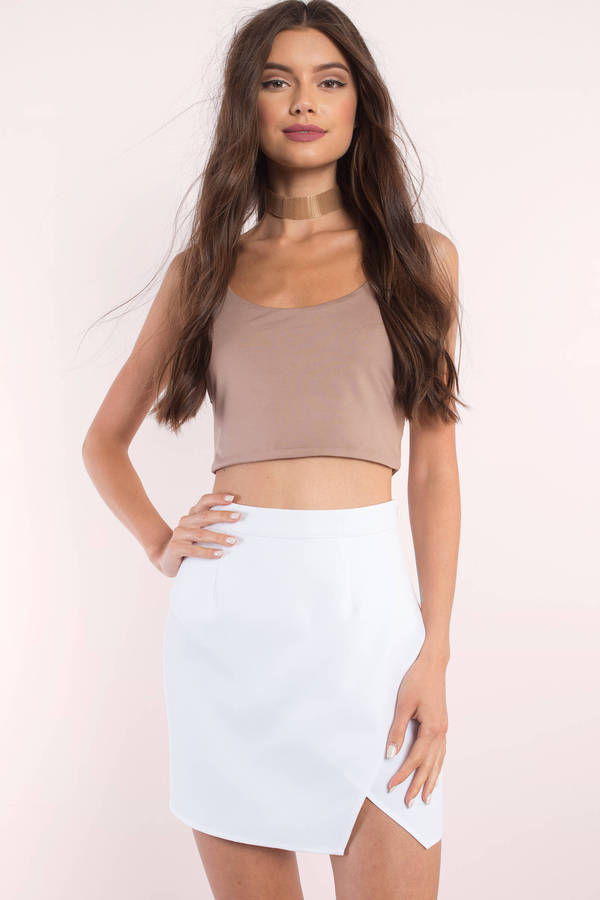 Sexy White Skirt - Slit Skirt - White Skirt - $44.00