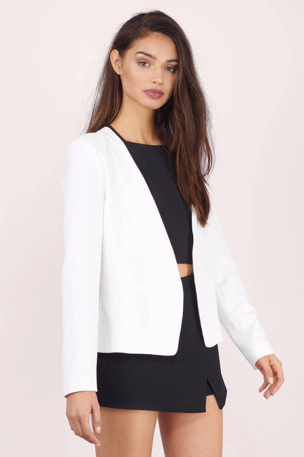 Cheap White Jacket - White Jacket - Split Back Jacket | Tobi