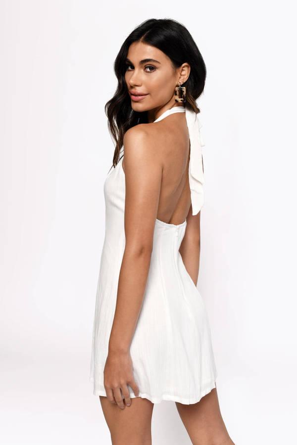 e5c34291fae1 ... Tobi White Dresses, White, Flash Sale Linen Halter A Line Dress, Tobi