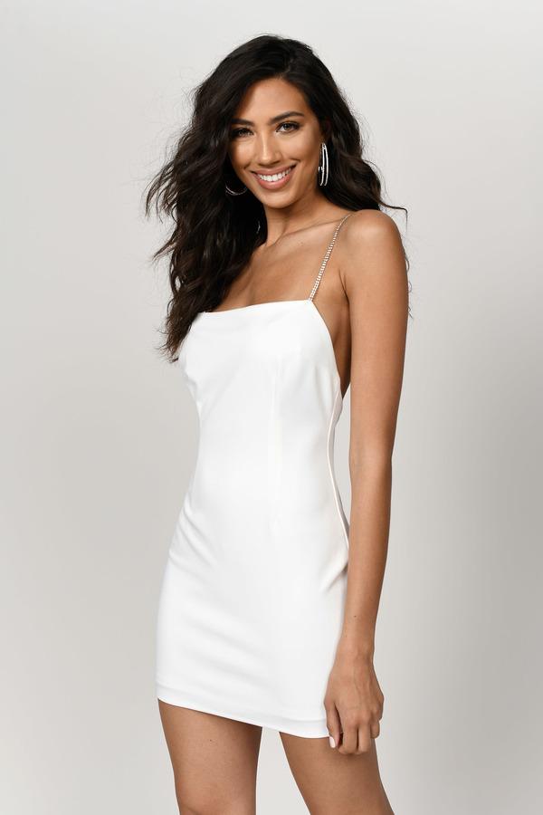 7bd108cc ... Tobi Sequin Dresses, White, Idol Low Back Bodycon Dress, Tobi