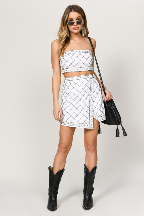 ff50f3eebe ... Tobi Two Piece Dresses, White, In The Moment Embellished Tube Top, Tobi