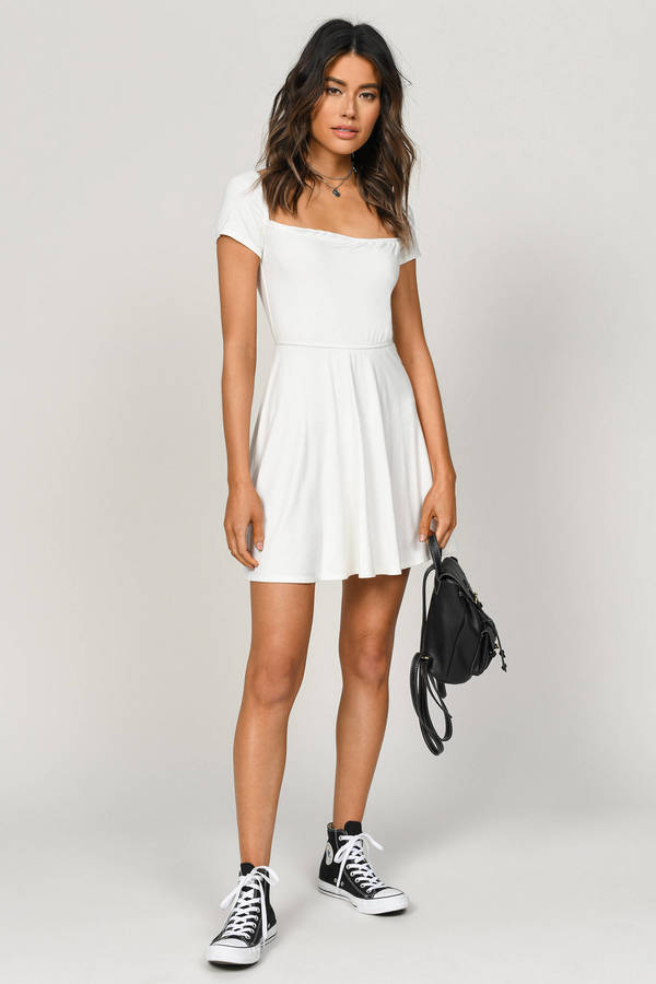d70fe622c15 Kia White Skater Dress Kia White Skater Dress ...