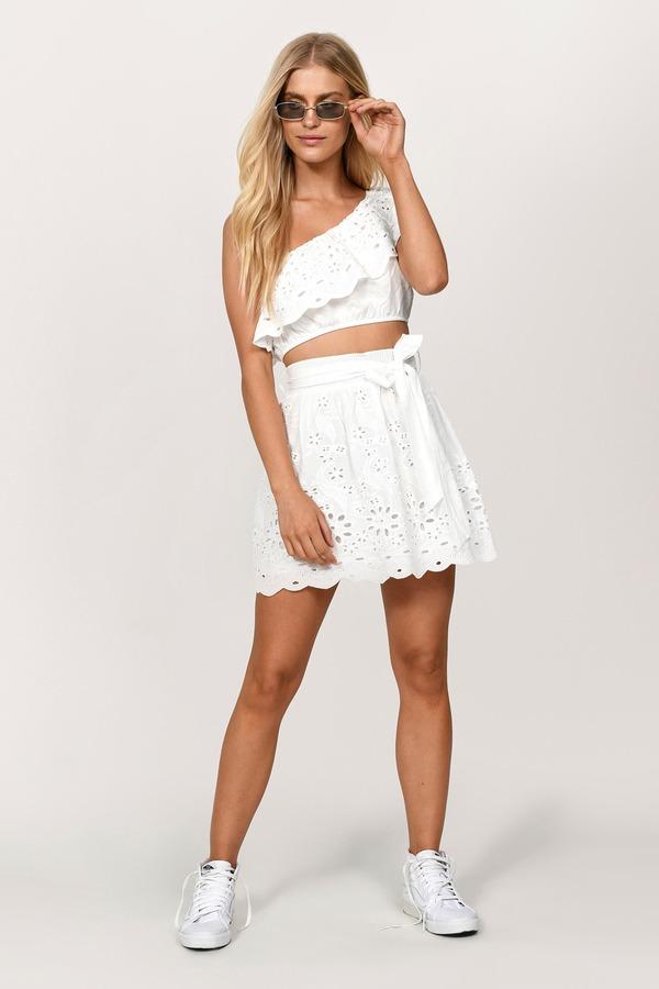 c1c59808395f ... Tobi Two Piece Dresses, White, Kyla One Shoulder Crop Top, Tobi