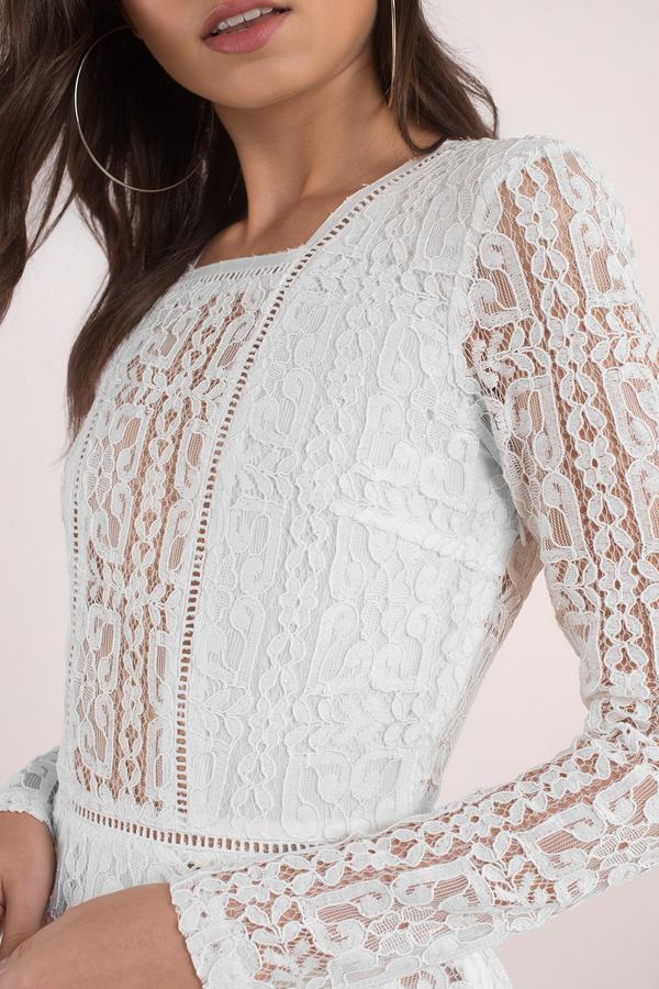 White Dresses For Women Short Lace Long Maxi Little