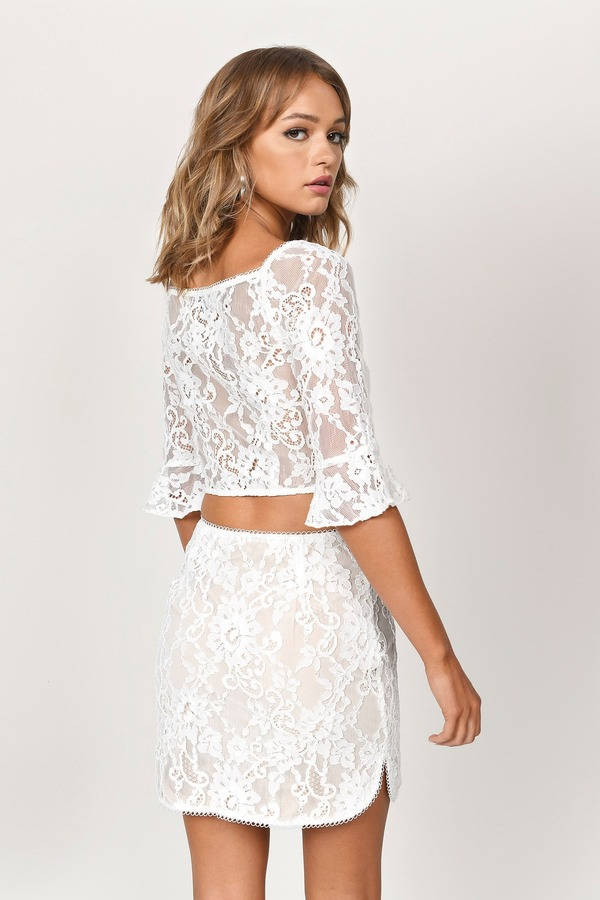 e24f17e81 ... Tobi Two Piece Dresses, White, Lexy Lace Sweetheart Crop Top, Tobi