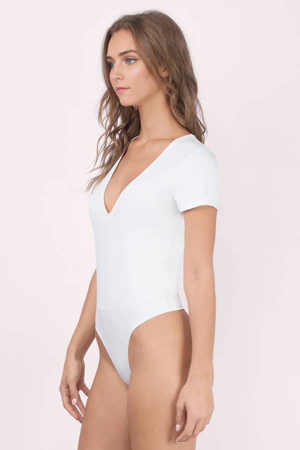 Sexy White Bodysuit - Cap Sleeve Bodysuit - White Bodysuit -  44 ... 7fbc2ea35