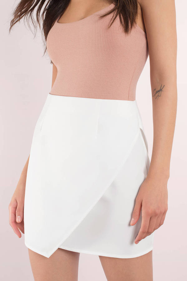 Cute White Skirt - Wrap Skirt - White Skirt - $52.00