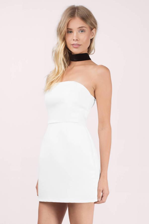 Cheap Black Bodycon Dress - Strapless Dress - $10.00