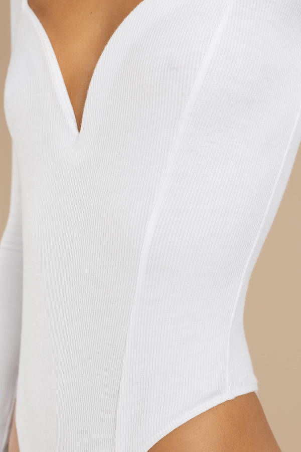 9d7fac0489 Maybell White Sweetheart Neckline Bodysuit Maybell White Sweetheart  Neckline Bodysuit ...