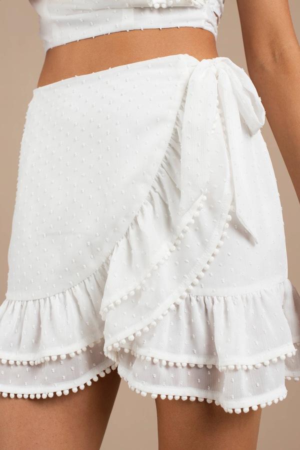 c34dfed1df White Skirt - Wrap Skirt - White Ruffle Skirt - Summer Skirt - $88 ...