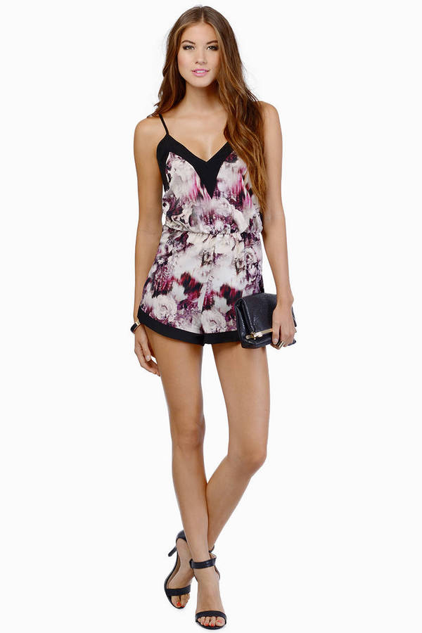 Oh My Love Dazed Floral Playsuit