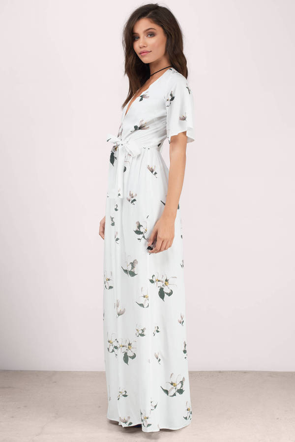 Emma White Multi Fl Maxi Dress